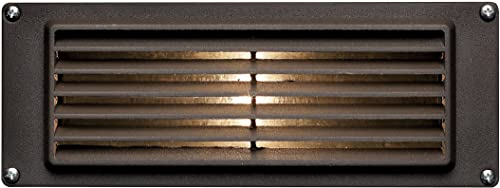 Hinkley Landscape Lighting Louvered Brick Light Hardscape Deck Light Highlights Important Hardscape Features and Surfaces and Increases Home Security – Bronze Finish, 1594BZ
