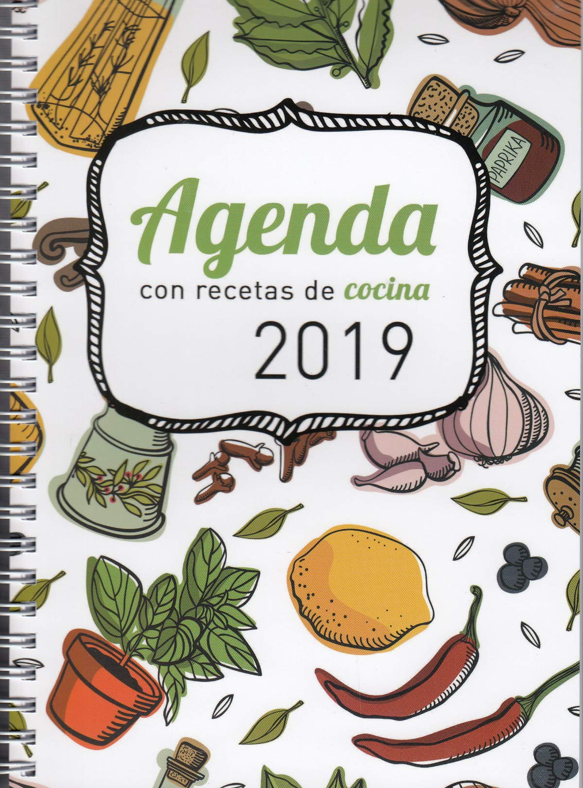 Agenda 2019 con recetas de cocina Tapa blanda – 11 sep 2018 Ediciones Mensajero 8427141602 WBA Basteln / Handarbeiten
