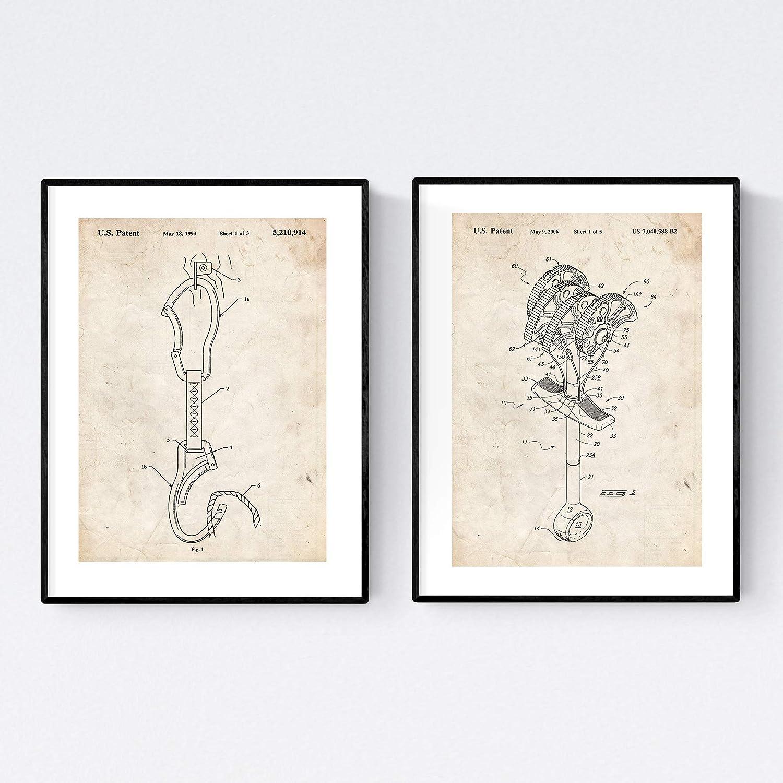 Pack de 2 Laminas para enmaracar de Escalada, Aquellos Que aman la Montana. Papel 250gr. Dos Posters con imágenes Estampadas. Decora el salón, o Haz ...