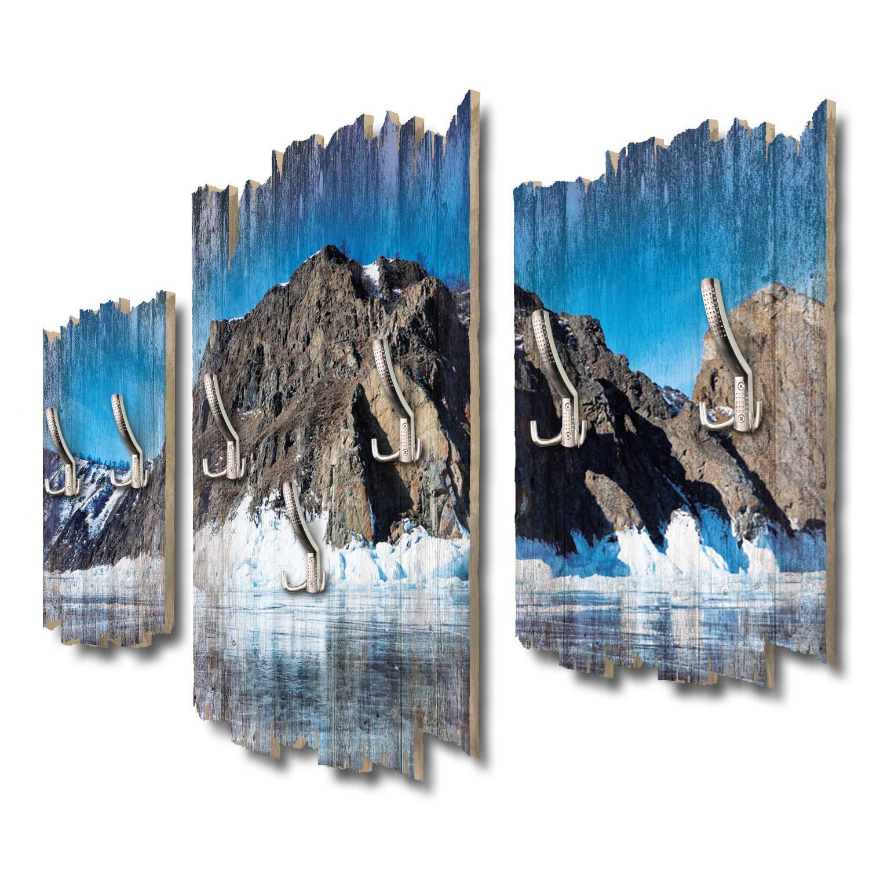 Kreative Feder Baikal See Designer Wandgarderobe Flurgarderobe Wandpaneele 95 x 60 cm aus MDF DTGH044