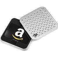 Amazon.com Gift Card in a Diamond Plate Tin (Classic Black Card Design)