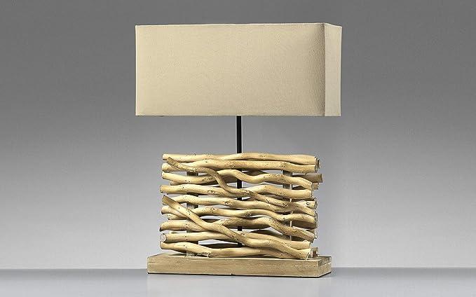 Dafnedesign.com lume con base in legno torto ul : amazon.it