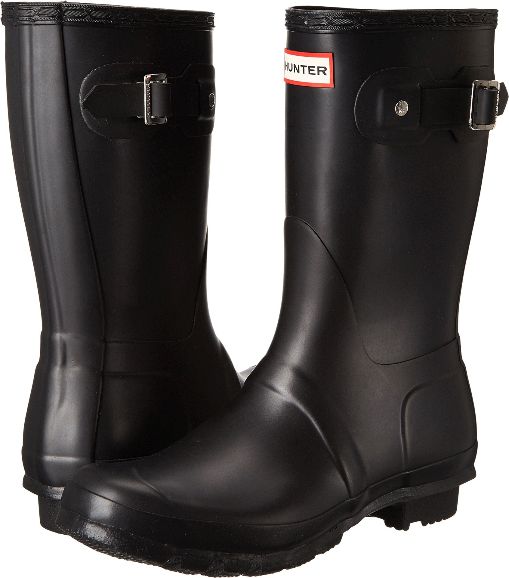 Hunter Womens Original Short Black Matte Rain Boot - 9 B(M) US by Hunter