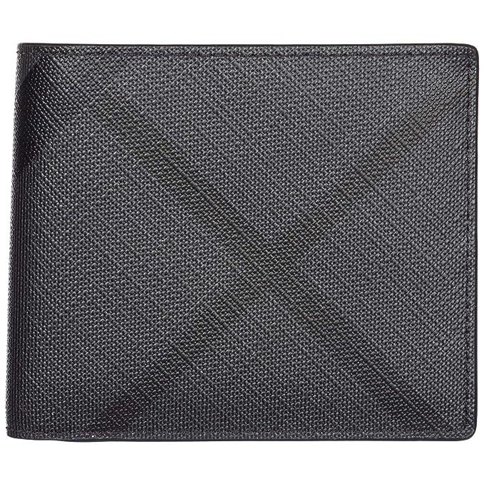 Burberry cartera billetera bifold de hombre nuevo Idbillf negro: Amazon.es: Ropa y accesorios