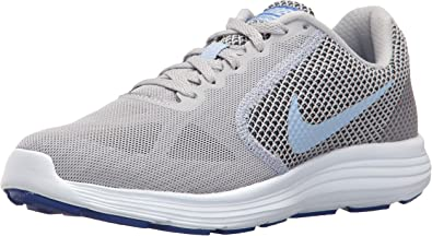 Nike Wmns Revolution 3, Zapatillas de Trail Running para Mujer, Wolf Grey Aluminum Black Blue Tint, 44 EU: Amazon.es: Zapatos y complementos