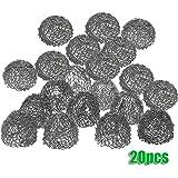 Scotte(TM) 20pcs silver Tobacco Pipe Screen Metal Ball Filter
