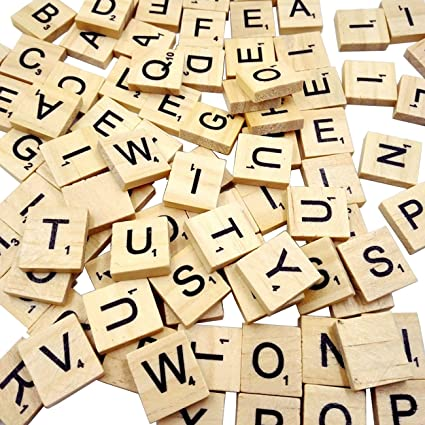 Amazon.com: Sunnyglade 500PCS Wood Letter Tiles/ Wooden Scrabble