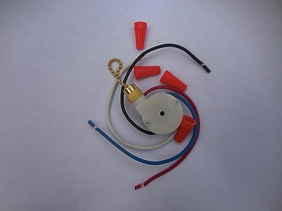 Zing Ear Ventilador de techo Tire cadena 3 Control de velocidad Interruptor ze-208s e89885 – Interruptor de control de velocidad para ventilador de techo velocidad de 3/4 Alambre Zing Ear: Amazon.es: Bricolaje