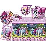 Procos 10111787B–Kit de 49 pièces pour fêter les anniversaires des enfants, motif Trolls de Dreamworks