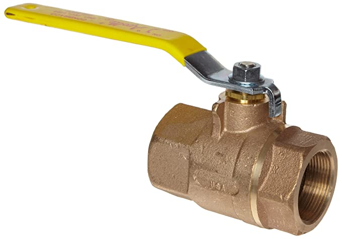 Inline Two Piece 1-1//2 NPT Female 1-1//2 NPT Female Conbraco Industries 77C14701 Apollo 77C-140 Series Bronze Ball Valve with Stainless Steel 316 Ball and Stem Lever