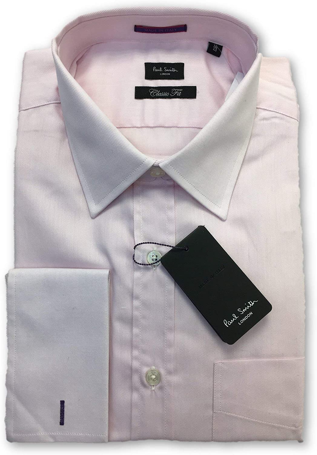 Paul Smith London Classic fit Double Cuff Shirt in Pink 15: Amazon.es: Ropa y accesorios