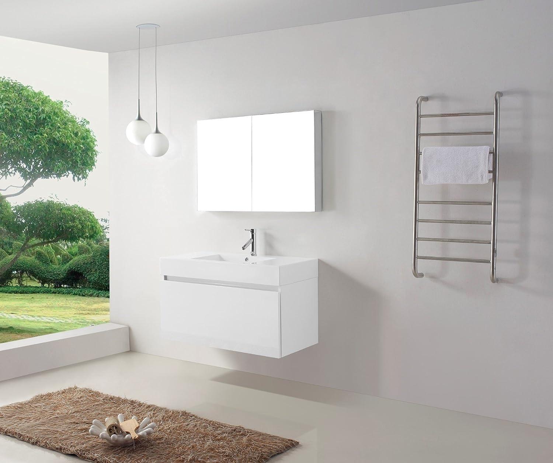 virtu usa js50339gw 39inch zuri single sink bathroom vanity gloss white amazoncom