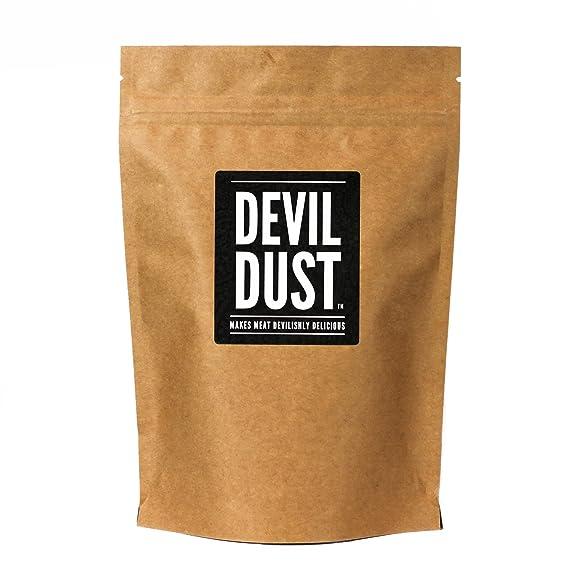 """Devil Dust - Condimento extra picante y barbacoa - """"Hace la carne deliciosamente picante"""""""