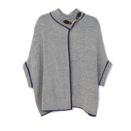 24260ab8d713 Amazon.com  L   T Outcrews Women s Tweed Cape W Buckle