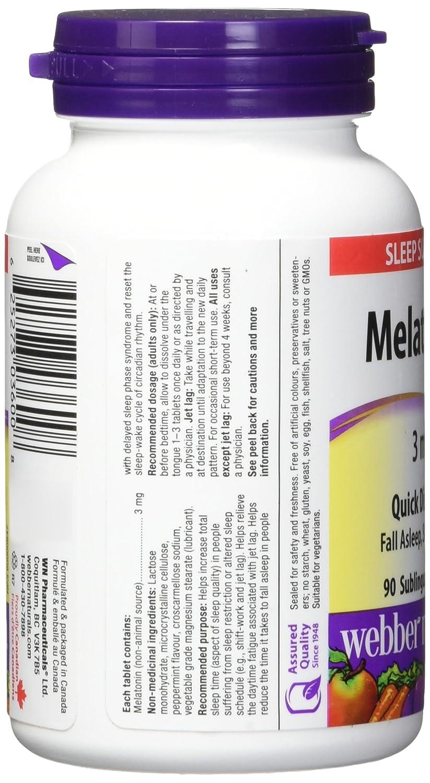Amazon.com: Webber Melatonin 3 mg (Easy Dissolve): Health & Personal Care