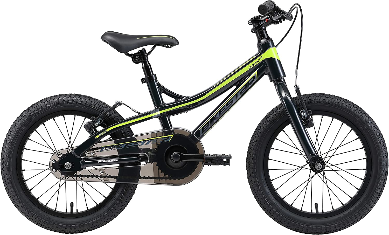BIKESTAR Vélo Enfant en Aluminium pour Garcons et Filles de 4-5 Ans | Bicyclette Enfant 16 Pouces vélo de Montagne avec Freins en V Noir & Vert