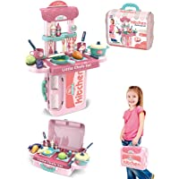Fiddly's 2 in 1 Kitchen Set Toy In a Hand Bag for Kids, KK-008-971A