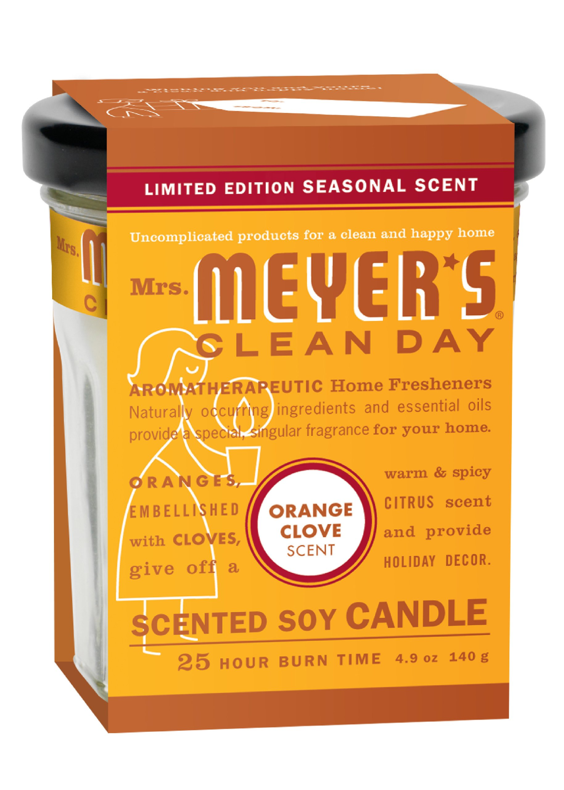Mrs. Meyers Clean Day Candle - Orange Clove, 4.90-Ounce (Pack of 2)