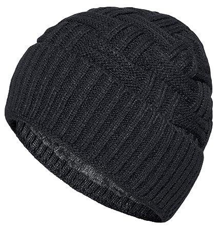 2b769d616 Loritta Mens Winter Warm Knitting Hats Wool Baggy Slouchy Beanie Hat Skull  Cap