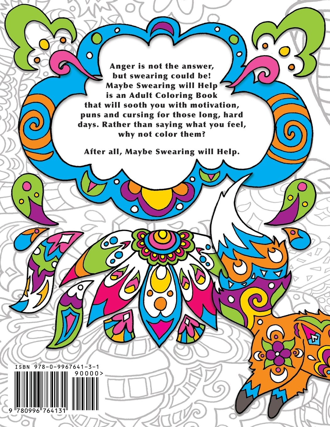 Amazon Maybe Swearing Will Help Adult Coloring Book 9780996764131 Nyx Spectrum Books