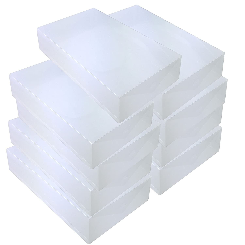 DynaSun 3x PP436 Cajas de Almacenaje Para Botas Apilable Plegable Contenedor Organizador Transparente para Hombres Damas y Se/ñoras
