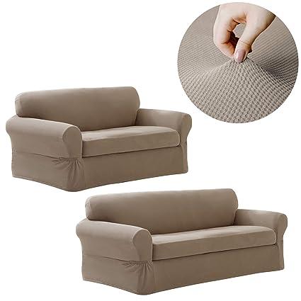 Fabulous Amazon Com Maytex Pixel Stretch Furniture Slipcover Set 2 Lamtechconsult Wood Chair Design Ideas Lamtechconsultcom