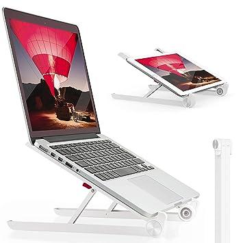 Soporte de ordenador portátil, de Lexitech, soporte portátil y ajustable para escritorio, con ventilación y diseño ...