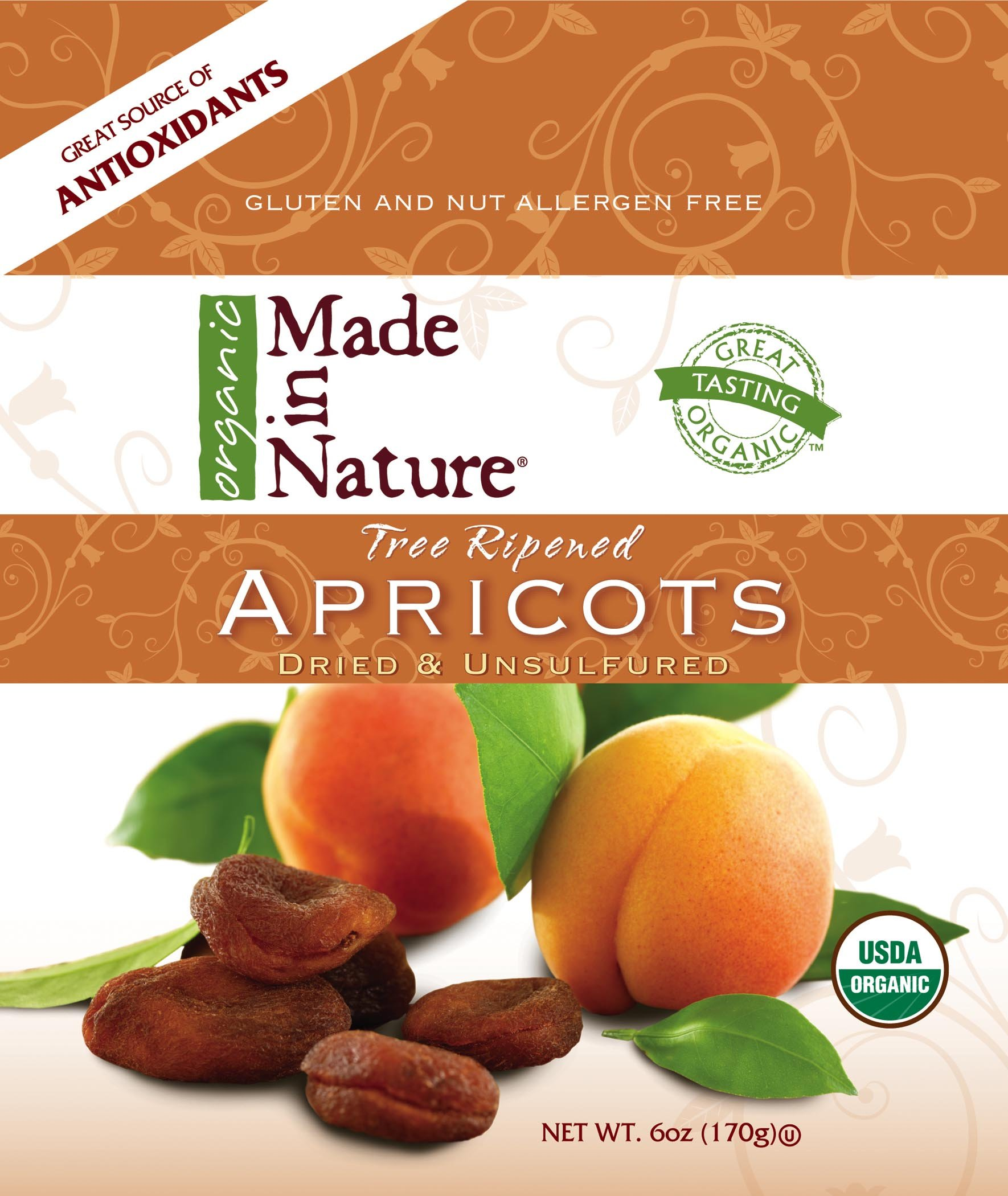 Made In Nature Organic Apricots ( 12x6 OZ) ( Value Bulk Multi-pack)