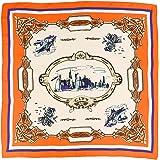 (エムエイチエー) M.H.A.style クラシカルスカーフ トレンド プリントスカーフ チェーン柄 21205