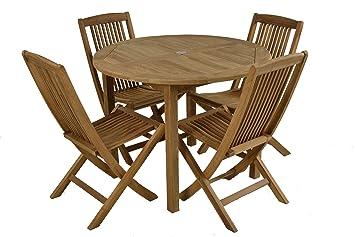 Bistro mesa redonda plegable de teca de grado A mesa de ...