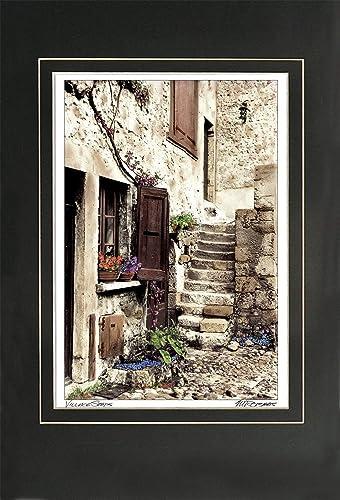 Amazon Com Village Steps Artist Signed European Art Print Of