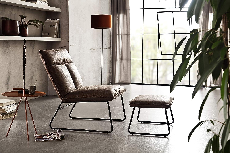 colore: marrone Robas Lund Lounge Sgabello 62 x 34 x 43 cm