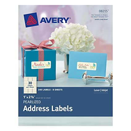 amazon com avery pearlized address labels 0 1 x 2 5 8 pack of