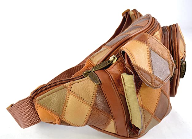 lambskin waist pouch BN waist bag Fanny pack Leather waist pouch leather bag