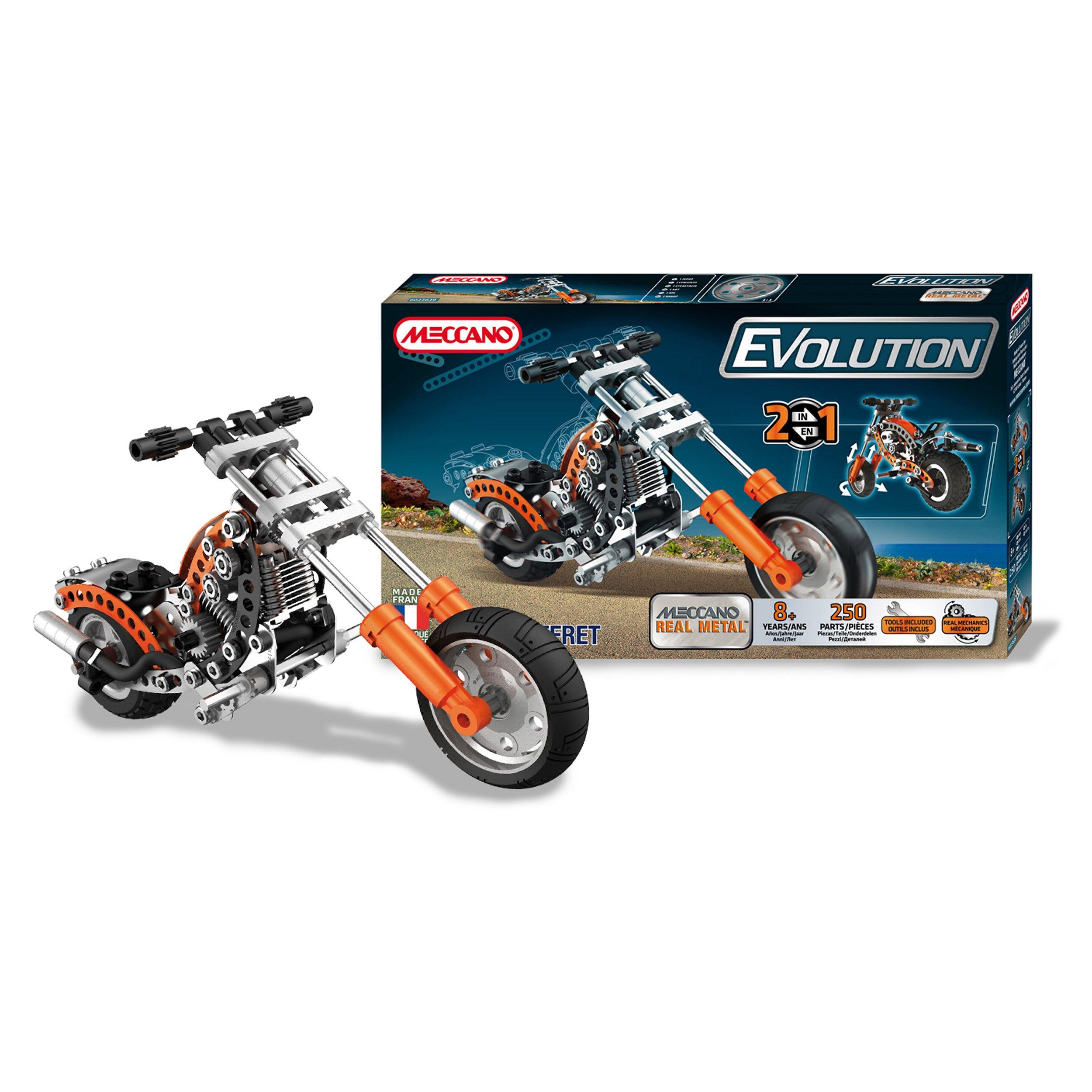 Meccano Evolution Chopper Motorbike