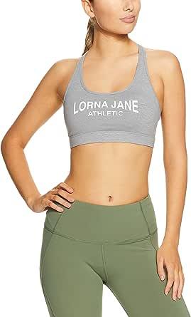 Lorna Jane Women's LJ Athletic Sports Bra, Light Grey Marl