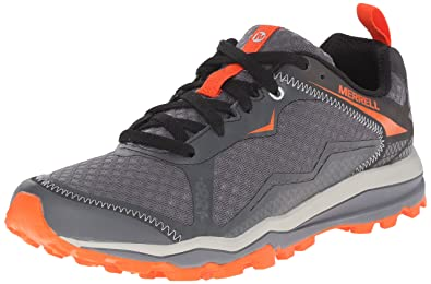 1c9c8f4ada Merrell Men's All Out All Out Crush Light Trail Running Shoes, Grey/Orange,