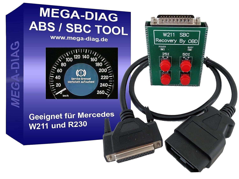 MEGA-DIAG Reset Reset Tool SBC ABS for Mercedes Benz W211 R230 Error  Message C249 °F