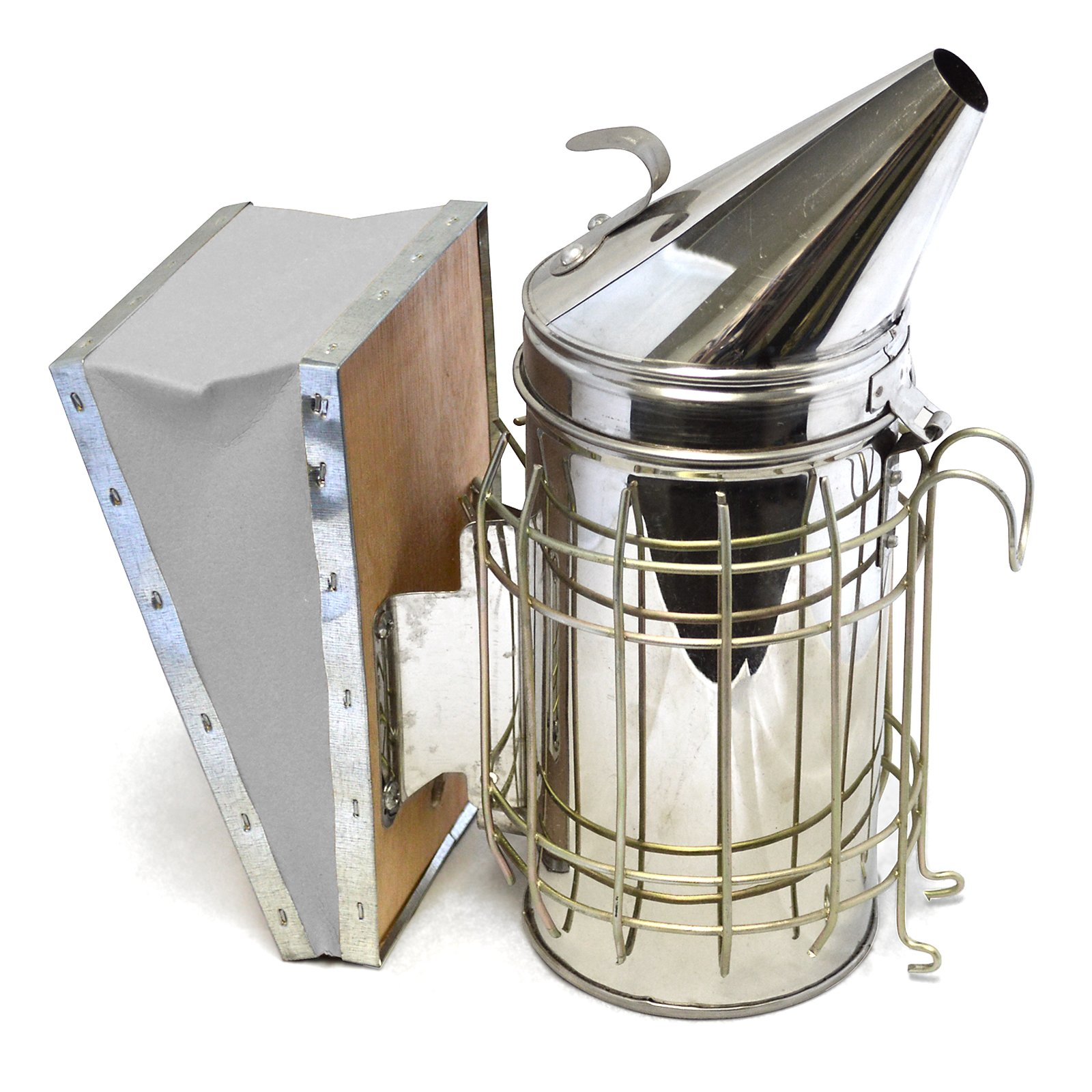 CO-Z Bee Smoker, Stainless Steel Beehive Smoker with Heat Shield Protection, Beekeeping Equipment Kit for Starter Beekeeper by CO-Z