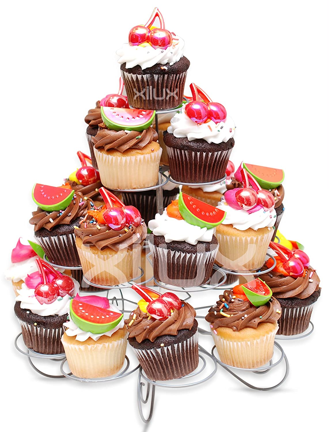Cupcake Stand for Birthdays and Other Occasions 4 Tier Cupcake Holder for 23 Cupcakes and Desserts COMINHKPR83687