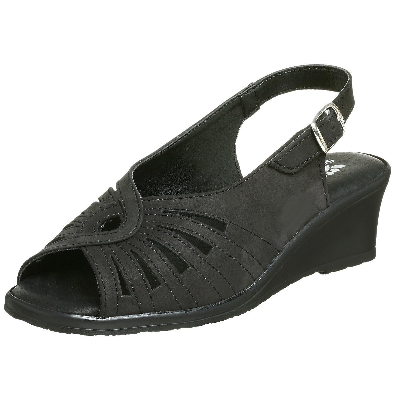 Spring Step Women's Gail Slingback Sandal B0012XMRX2 40 M EU / 9 B(M)|Black/Black