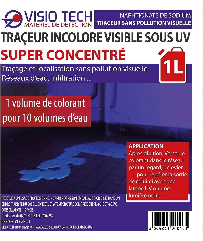 Visio Tech – Localizador incoloro Super concentrado visible bajo UV – 1L: Amazon.es: Bricolaje y herramientas