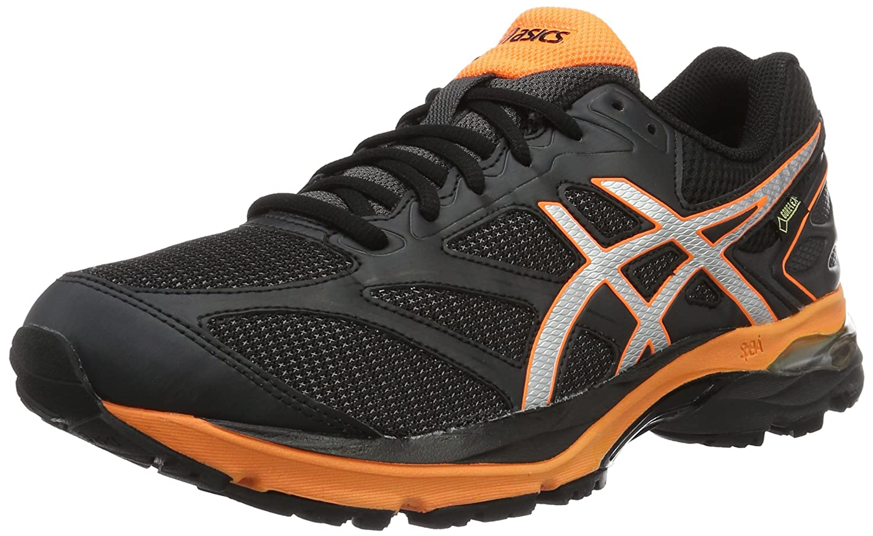 Asics Gel-Pulse 8 G-TX, Zapatillas de Running para Hombre 41.5 EU|Negro (Black/Silver/Hot Orange)