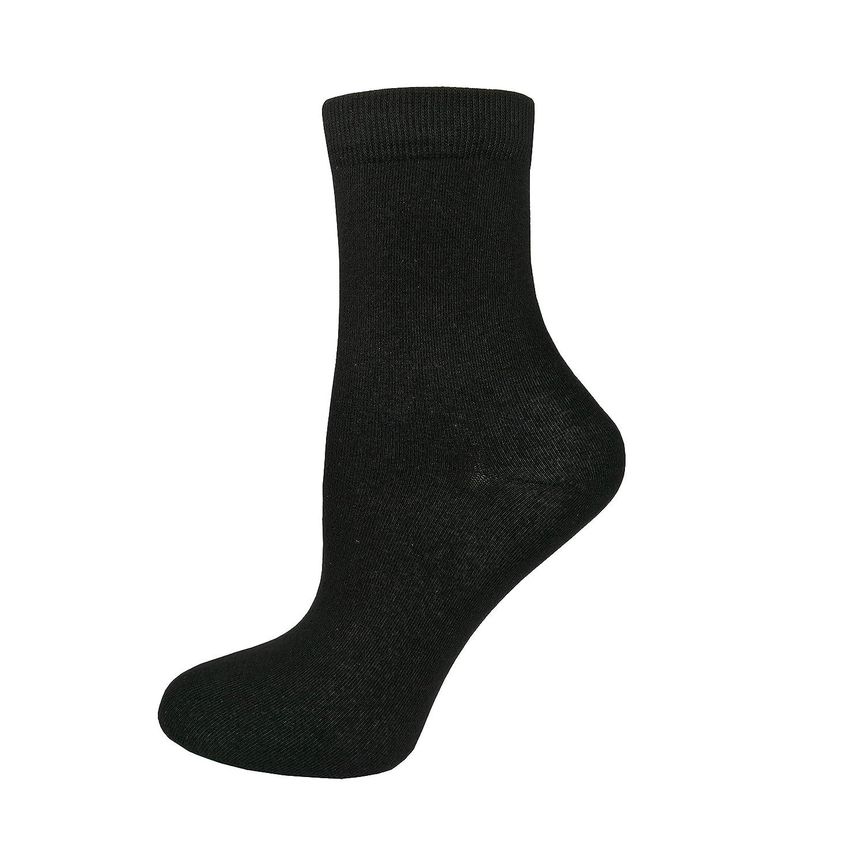 Amazon.com: Calcetines de algodón para mujer, color negro ...