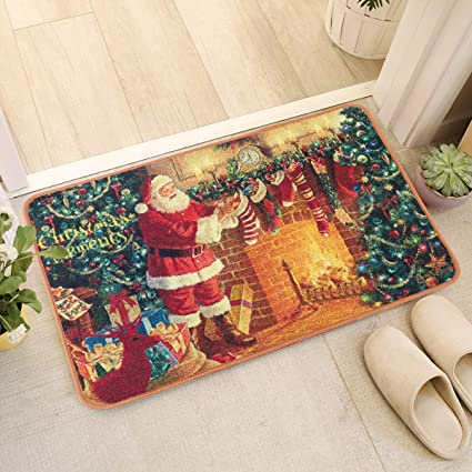 Amazon Com Yj Gwl Merry Christmas Rugs Welcome Mat For Indoors