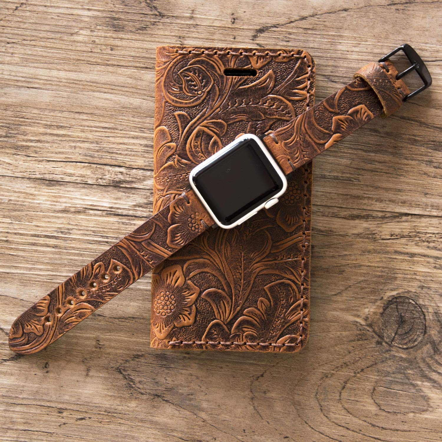 11 Pro cell Phone Flip Cover Personalized Gift Leather iPhone 7//8 Plus Wallet Case Women Handmade Floral Tooled Design Western Apple X//XR//XS MAX