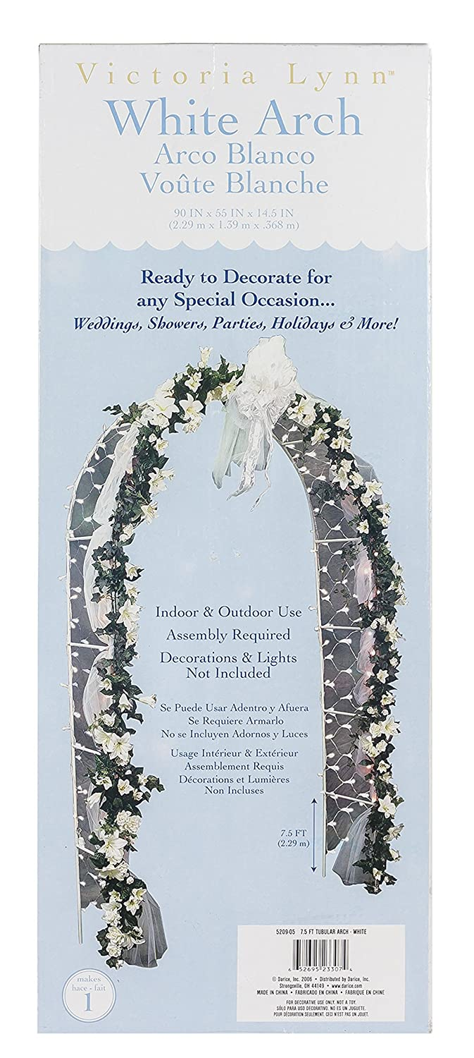Amazon darice 5209 06 decorative 8 foot tall white wedding arch amazon darice 5209 06 decorative 8 foot tall white wedding arch with 200 netting lights arts crafts sewing junglespirit Choice Image