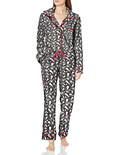 Women/'s Printed Rayon Lace Boxer Short /& Cami Sleep Pajama Set SMALL Bottoms Out