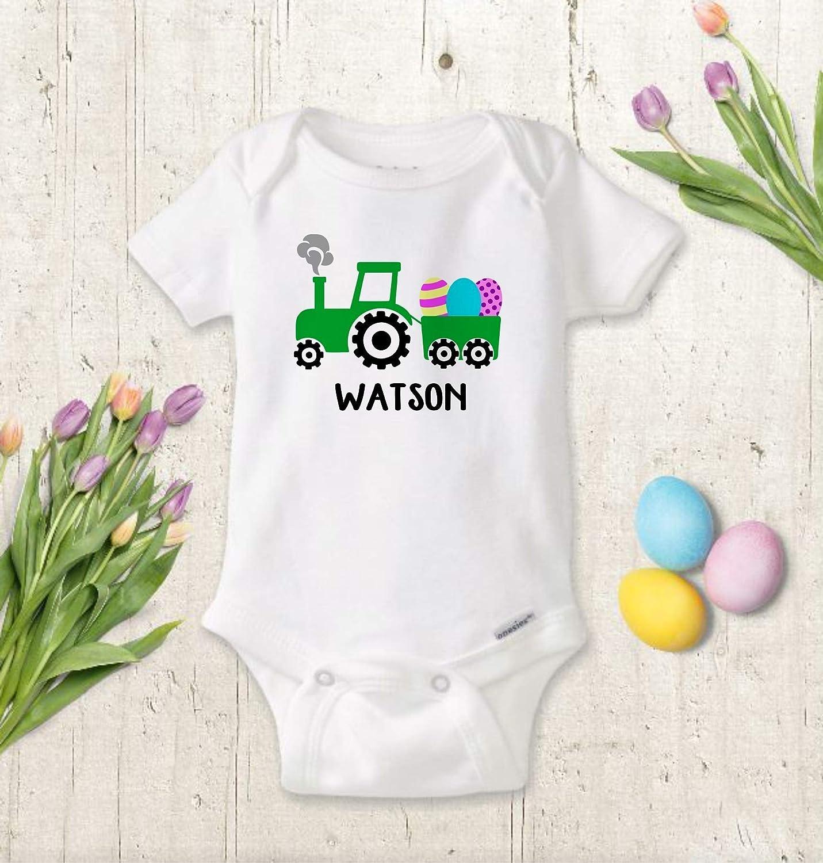 Easter Baby Bodysuit for BOY or GIRL, Personalized Easter Truck Bodysuit, Toddler Shirt, Custom Name Baby Gift