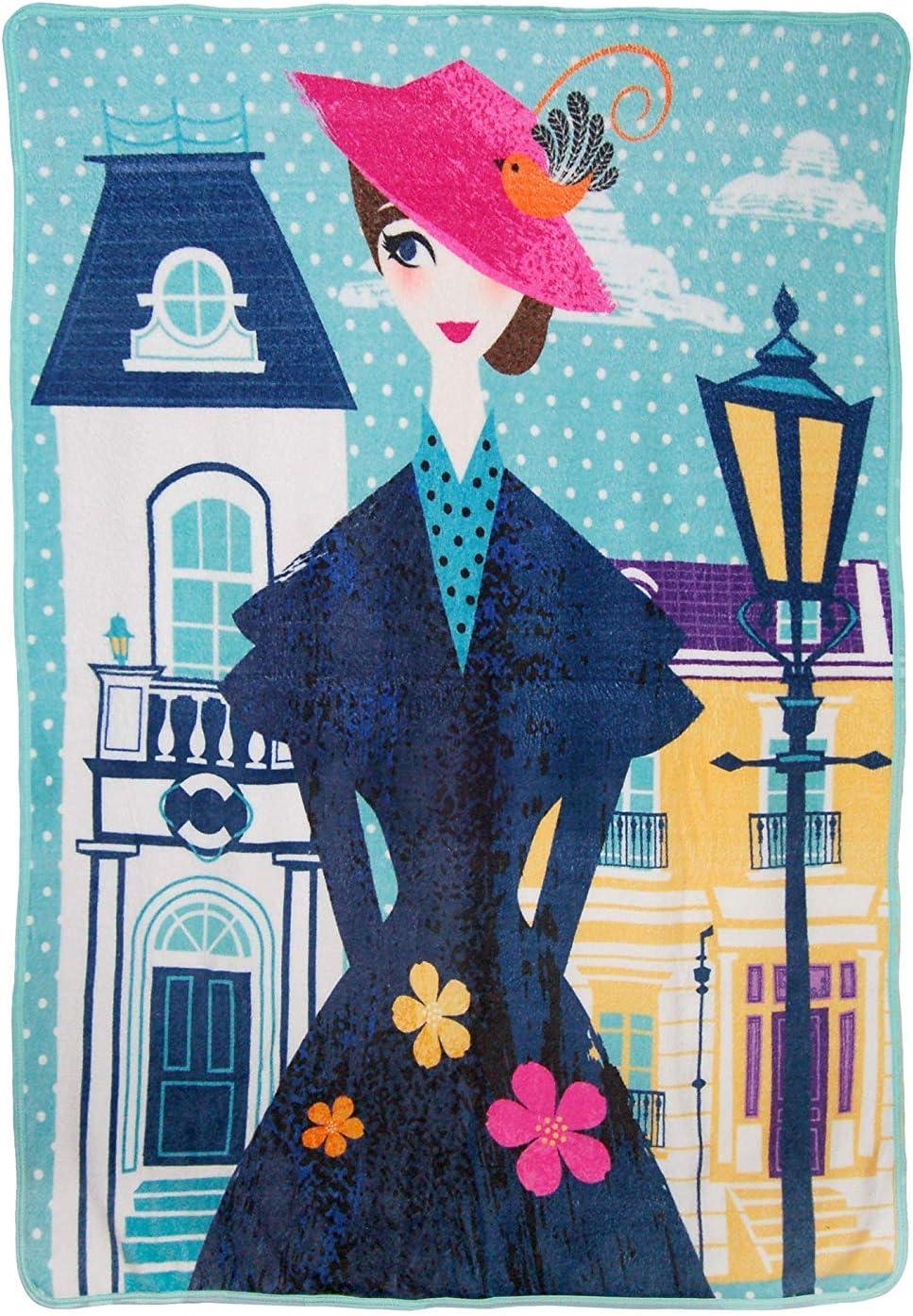 "Kids Warehouse Disney Mary Poppins Chim Chiminy Throw Blanket - 60"" by 46"""